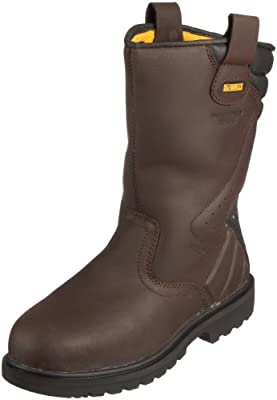 aef2f48fa86 DeWALT Rigger Safety Boots Brown 5 UK Wide