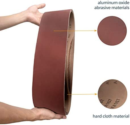 "POWERTEC 110210 6 x 48/"" Sanding Belts120 Grit Aluminum Oxide Sanding Belt ..."