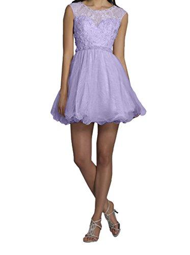 Promkleider Lilac Mini Champagner Cocktailkleider Tanzenkleider Abendkleider mit Hell Charmant Partykleider Damen Kurzes Spitze Cqgw7CZ0