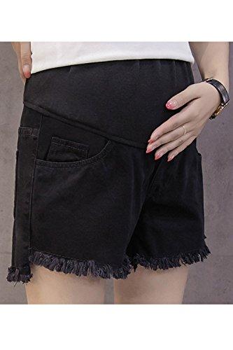 Corti Pantaloncini Fanvans Jean I Di Jeans Incinta Di Black xqZFIP5wZr