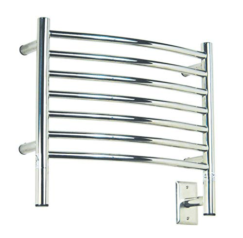 Amba Electric Wall Mount Jeeves H Curved Towel Warmers Polished