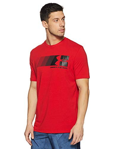 Under Armour Mens Fast Left Chest Update T-Shirt, Red (600)/Black, Small