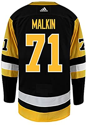 Evgeni Malkin Pittsburgh Penguins Adidas NHL Men's Authentic Black Hockey Jersey