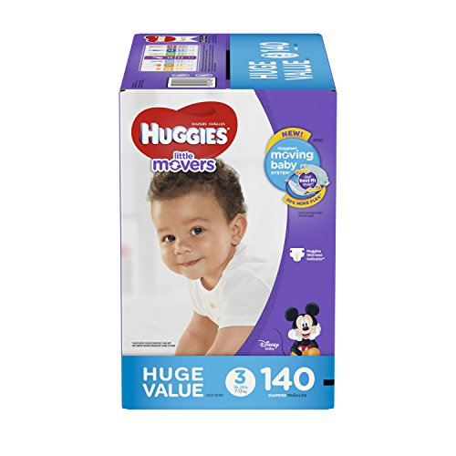 HUGGIES Little Movers Diapers, Size 3, 140 Count (Packaging May Vary) by HUGGIES