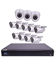 Montavue 16 Channel 4K Security System w/ 12 4MP IP Cameras with Color Night Optics (MTIP81639B3E)