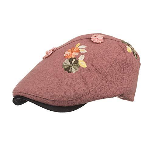 Bordado hat E periódicos Sombrero de de Sombrero de Sombrero D de Sombrero Pato Vendedor señoras qin Sombreros Vintage Informal GLLH de Bere 5qXHSP