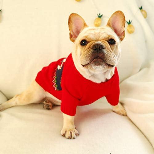 Cuteelf Hundekleidung Leopard mit Kapuze Hund Winter Weihnachten Pl/üsch mit Kapuze Kleidung Haustier Katze Pullover Mantel warme Hund Jacke Pullover Pullover