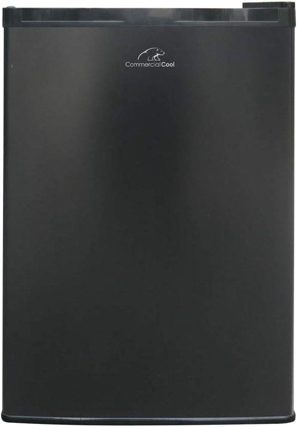 Commercial Cool CCAR26BBR Single Door Mini Fridge, 2.6 Cu. Ft. Refrigerator Black