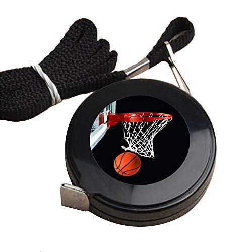 1.5 Meter Black tape measure Basketball Hoop Tape Measure for Body customized image tape measure sewing Automatic retractable tape measure clothing measuring Tape Measure fractions Self Lock tape (Ku Basketball Hoop)