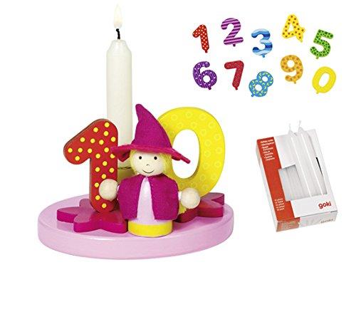 Goki - Juego de cumpleaños niña cumpleaños números 1 - 9 + 0 ...