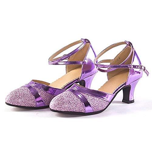 f187f2f30fa JJLIKER Women Gladiator Buckle Strap Mid Heel Sandals Closed Toe Non-Slip  Suede Pumps Summer