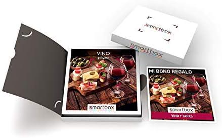 SMARTBOX - Caja Regalo - Vino y Tapas - Idea de Regalo - 1 Visita a Bodega con cata y obsequio o 1 menú de Tapas para 2 Personas
