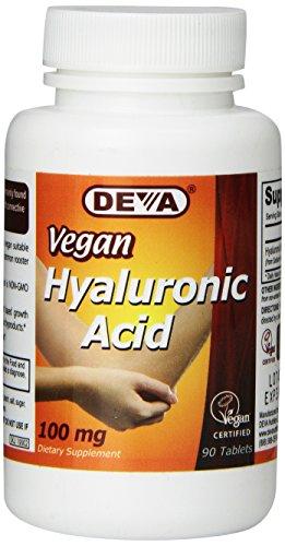 Deva Nutrition Vegan Hyaluronic Acid Tablets, 100 mg, 90 Count