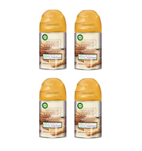 Air Wick Holiday Freshmatic 4 Refills Automatic Spray, Sugar Cookies, (4X6.17oz), Air (Holiday Sprays)