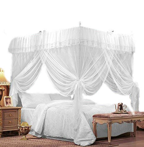 Amazon.com IFELES 4 Corners Bed Canopy Twin Full Queen King Mosquito Net ( FULL/QUEEN) Home u0026 Kitchen  sc 1 st  Amazon.com & Amazon.com: IFELES 4 Corners Bed Canopy Twin Full Queen King ...