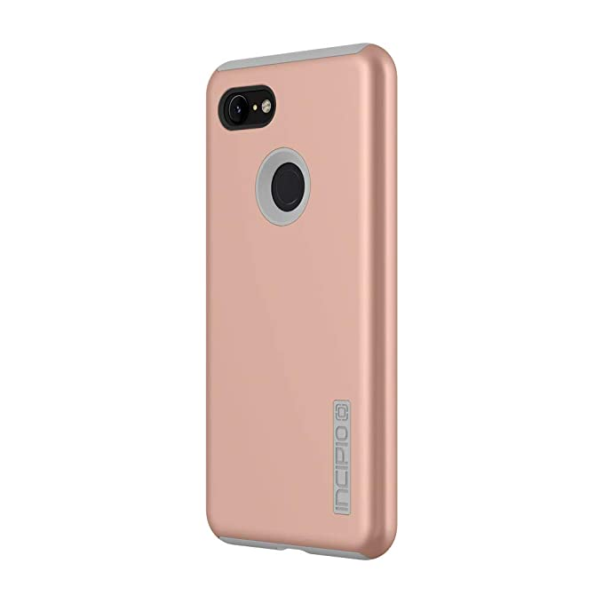 best website 27740 fe499 Incipio DualPro Pixel 3 XL Case with Shock-Absorbing Inner Core &  Protective Outer Shell for Pixel 3 XL - Iridescent Rose Gold/Gray