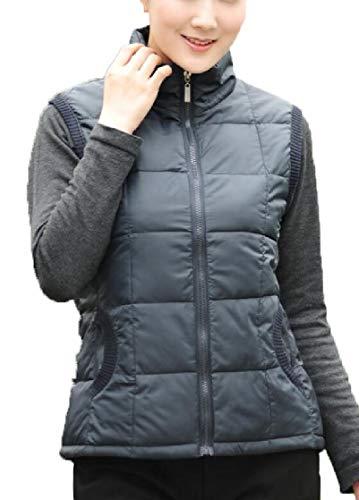 表向き獣胴体Fly Year-JP レディーススタンドカラー軽量ダウンベストパッドキルトジャケットコート
