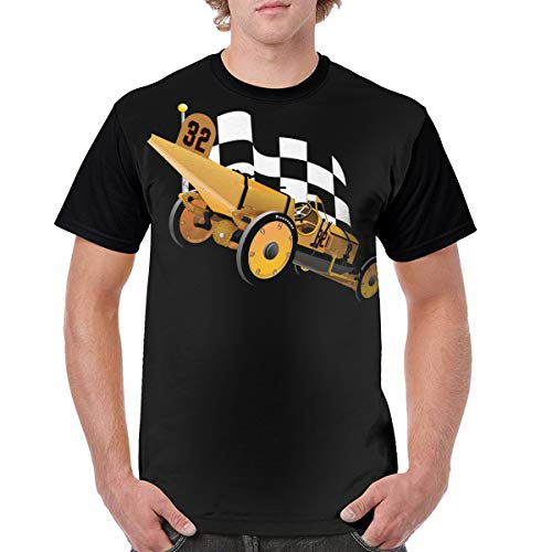 (TGDBS2 Marmon Wasp with Checkered Flag Mens' 3D Graphic Tee Shirt Black)