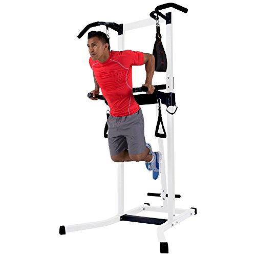 Workout Station Gym Dip Pull Ups Fitness Crossfit Training Complete Home Multi 19+ Gym-Style Exercises Weight Capacity: 300 lbs Steel Construction by Best Care LLC