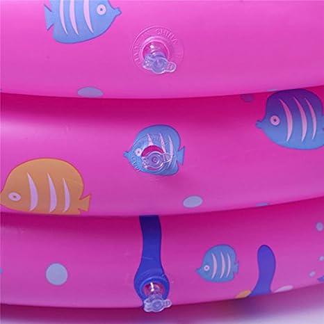 Bañera infantil hinchable para bebés, piscina hinchable para bebés con 50 pelotas, bañera antideslizante plegable para viaje, espeso, baño y ducha, ...