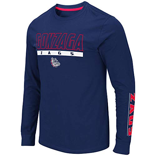 Colosseum Mens Gonzaga Bulldogs Guam Long Sleeve Tee Shirt - S
