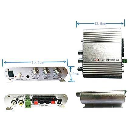 Amazon.com: Oda Mini Digital Audio Power Amplifier 2.1 2 Channels ...