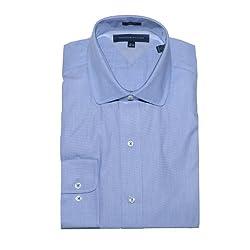 Tommy Hilfiger Men Slim Fit Long Sleeve Dress Shirt