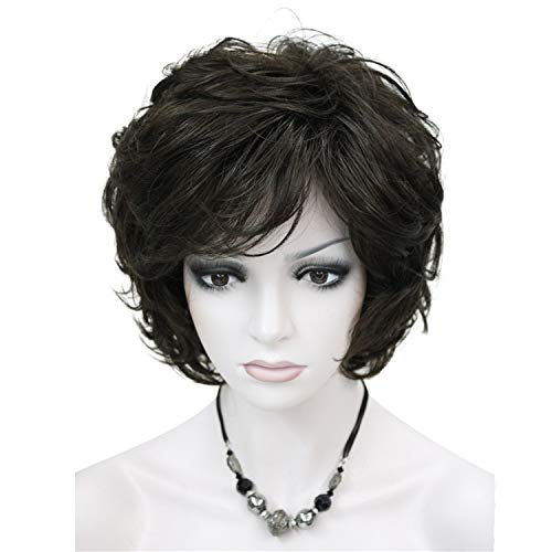 Strong Beauty Wigs Short Wavy Golden Blonde Hair For Women Synthetic Capless Full Wig 16 Colors,6,10IN