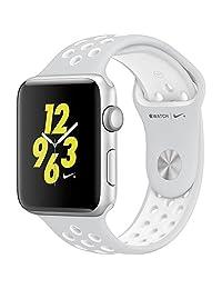 apple MQ192LL/A Watch Nike Plus 42mm Silver Aluminum Case Pure Platinum/White Sport Band