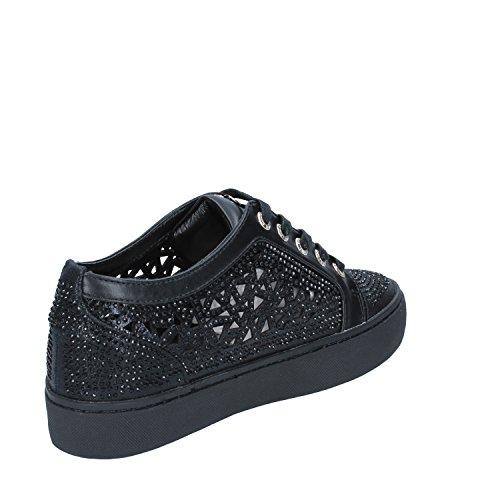 Pelle Sintetica SARA Strass LOPEZ Tessuto Nero Donna Sneakers wqpq87