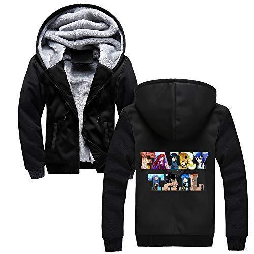 Uomo Aivosen Con Sportiva Casual Fairy Felpe Black59 Cappotto Spesso Outwear Autunno Invernale Maglie Comode Tail Giacca Cappuccio sChrdtQ
