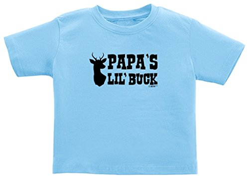 Country Kids Light T-shirt (Country Baby Gift Papa's Lil' Buck Cute Country Juvy T-Shirt 7 Light Blue)
