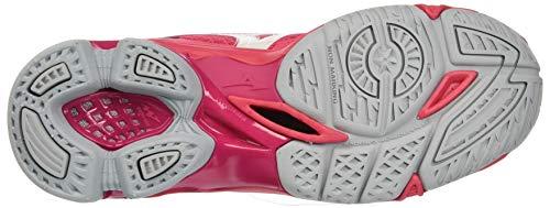 Azalea Bolt 001 Mizuno Mid da Wht Scarpe Basse Rosa Donna Ginnastica Wave 7 Camerose AqqOTfv