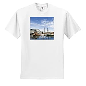 Danita Delimont - Boats - Washington, Seattle, Center for Wooden Boats - US48 WSU1087 - William Sutton - T-Shirts - Grown-up T-Shirt 2XL (ts_96999_5)