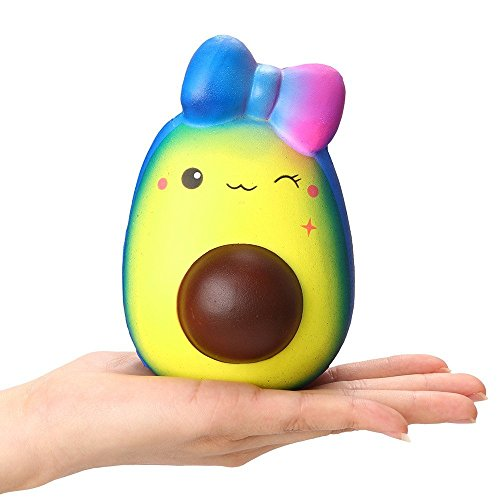 Birdfly Lovely Avocado Discoloring Puppy and Hedgehog Squeeze Slow Rising Scented Squishy Toy