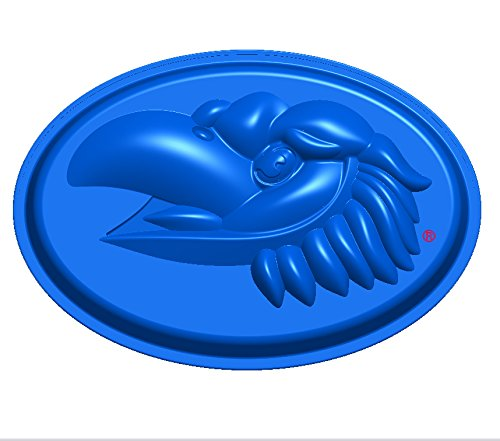 NCAA Kansas Jayhawks Cake Pan with Stand, One Size, Blue