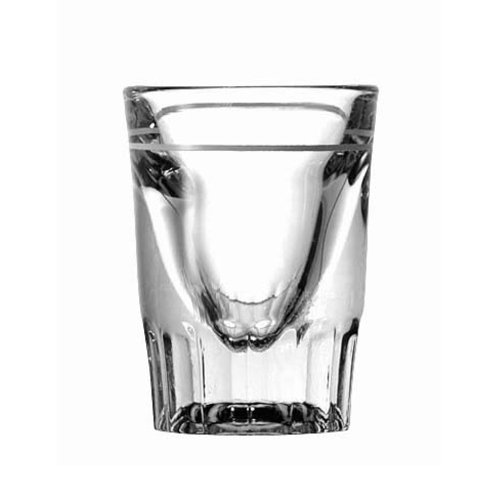 Anchor Hocking 5281/93 2-1/4 Inch Diameter x 2-7/8 Inch Height, 1.5 - 3/4-Ounce Line Whiskey Shooter Glass (Case of 48) by Anchor Hocking