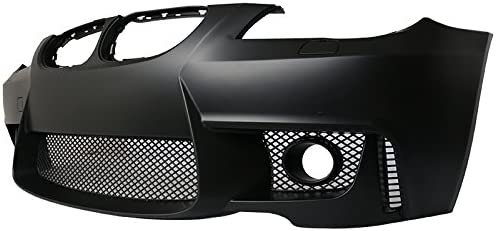 1M Style PP Black Added On Bodykits Body kit by IKON MOTORSPORTS Front Bumper Cover Compatible With 2004-2010 BMW E60 5-series 2005 2006 2007 2008 2009