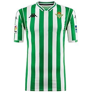 1ª equipación Réplica - Real Betis Balompié 2018/2019 - Kappa Kombat Replica Home - Niño: Amazon.es: Deportes y aire libre