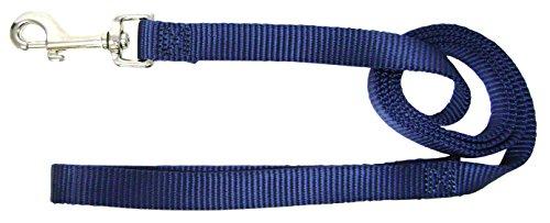 Hamilton 3/4-Inch Single Thick Nylon Lead with Swivel Snap, 6-Feet Long, Navy Blue (Blue Leash)