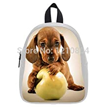Children Backpack Custom Dachshund Puppy Printed Students School Bag As Gifts