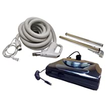 Central Vacuum 30ft 2 way hose Blackhawk electric powerhead kit Eureka Nutone Beam