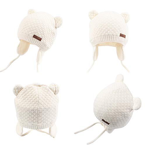 777579fb9b6d Cutegogo Baby Infant Earflap Beanie Hat Toddler Boys Girls Winter Warm  Crochet Cap 0-24Months