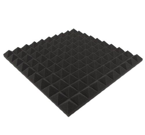 Akustikpur - ca. 49 cm x 49 cm x 4 cm - Akustikschaumstoff,Pyramiden Akustik Schaumstoff,Akustik Dämmung, Tonstudio