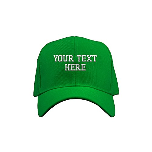 Personalize Your Custom Text On Acrylic Adjustable Structured Baseball Hat