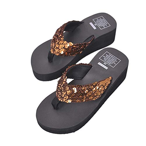 Women Platform Sandals High Heel Summer Shoes Slippers Beach Flip Flops Slides,Style 3 e,7.5 ()