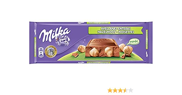 Milka tableta de chocolate leche con frutos secos enteros(e300g): Amazon.es: Alimentación y bebidas