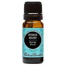 Stress Relief Synergy Blend Essential Oil by Edens Garden (Bergamot, Patchouli, Blood Orange, Ylang Ylang  Grapefruit)- 10 ml