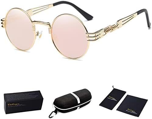 Dollger John Lennon Round Sunglasses Steampunk Metal Spring Frame Mirror Lens …