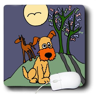 mp_200560_1 All Smiles Art Dogs - Fun Terrier Puppy Dog by Dog Biscuit Tree Folk Art - Mouse Pads